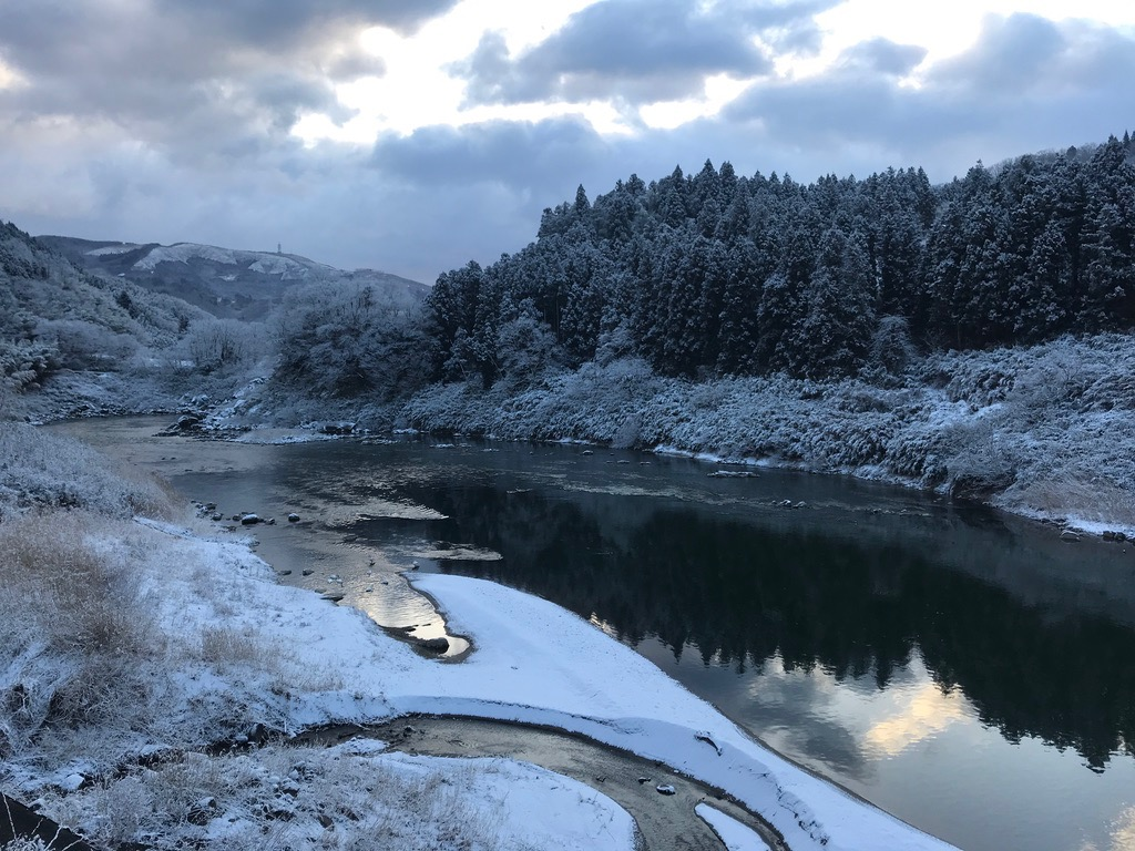 阿武隈川 冬